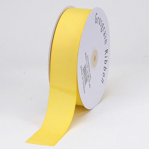 Grosgrain Ribbon Matte Finish Canary ( W: 3 Inch | L: 25 Yards ) -