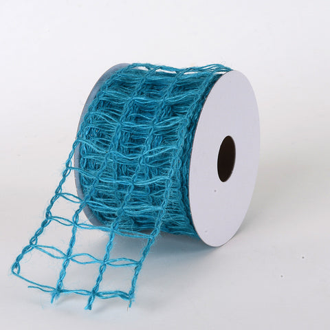 Burlap Net Ribbon Turquoise ( W: 2-1/2 inch | L: 10 Yards ) -