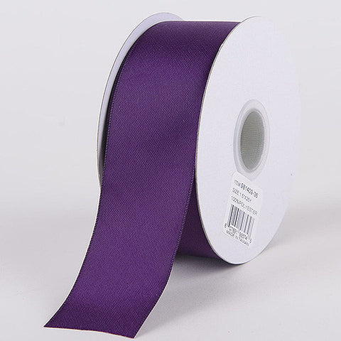 Satin Ribbon Double Face Eggplant ( W: 5/8 inch | L: 25 Yards ) -