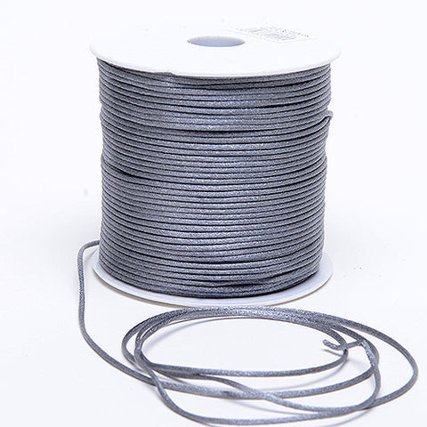 2mm Satin Rat Tail Cord Silver ( 2mm x 100 Yards ) - Ribbons Cheap