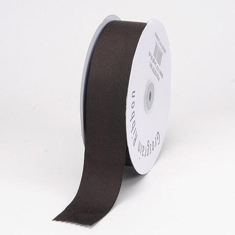Grosgrain Ribbon Matte Finish Chocolate Brown ( W: 3/8 inch | L: 50 Yards ) -