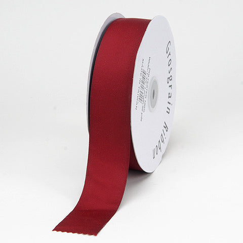 Grosgrain Ribbon Matte Finish Burgundy ( 7/8 inch | 50 Yards ) -