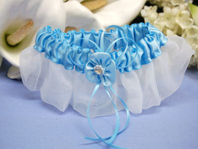 Lace Garters Turquoise ( 6 Inch Width ) -