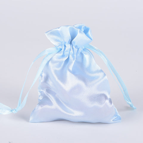 Satin Bags Light Blue ( 4.5x5.5 Inch - 10 Bags ) -