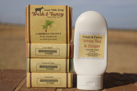 goat milk soap and lotion