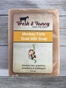 Monkey Farts - Goat Milk Bar Soap