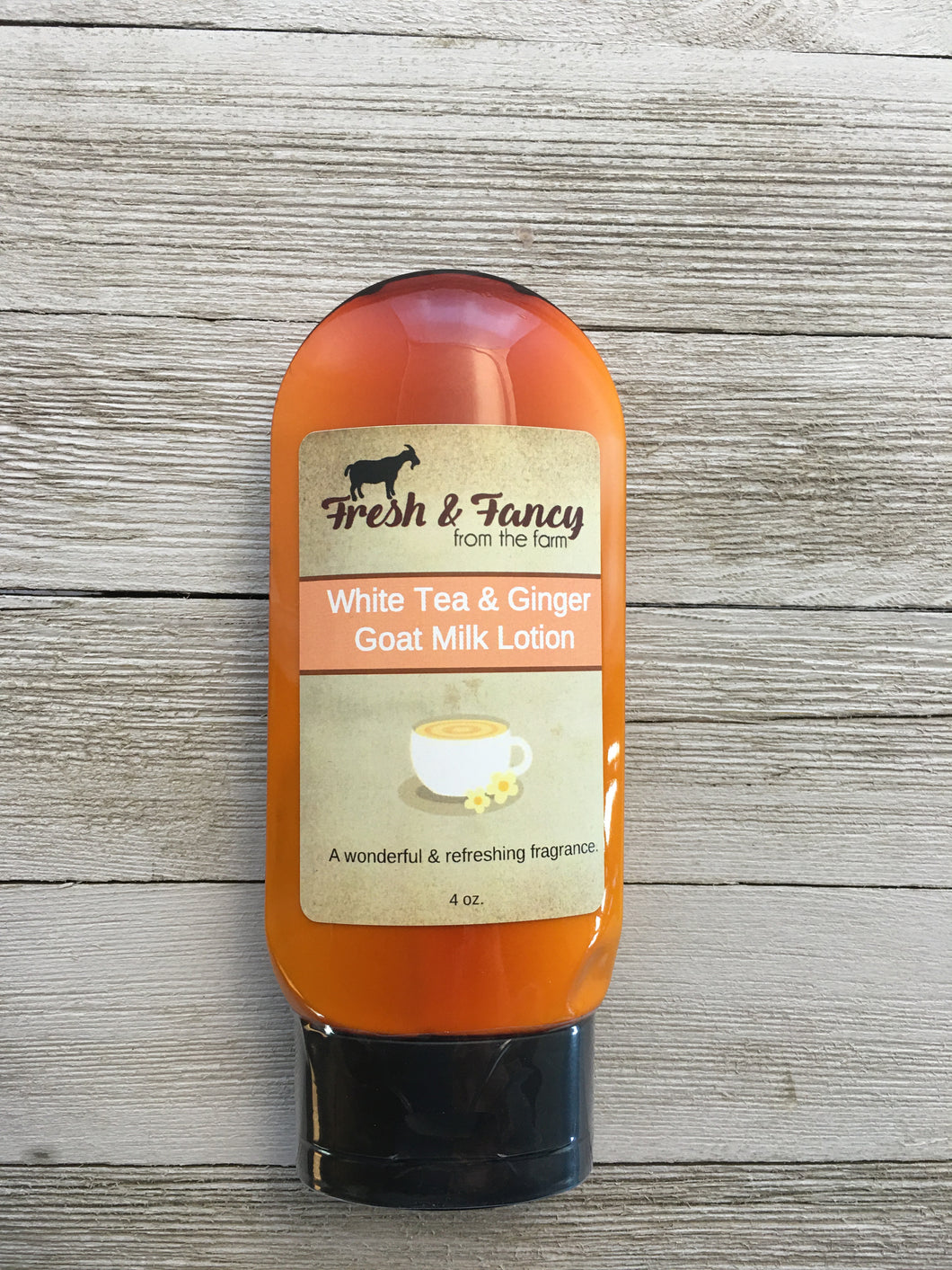 White Tea & Ginger - Goat Milk Lotion 4 oz. tube