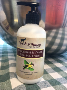 Peppermint and Vanilla 8 oz. Lotion Pump