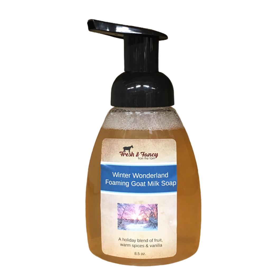 ** Sale ** Winter Wonderland - Foaming Goat Milk Hand Soap - 8 oz.