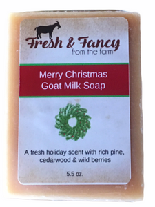 Merry Christmas - Goat Milk Bar Soap