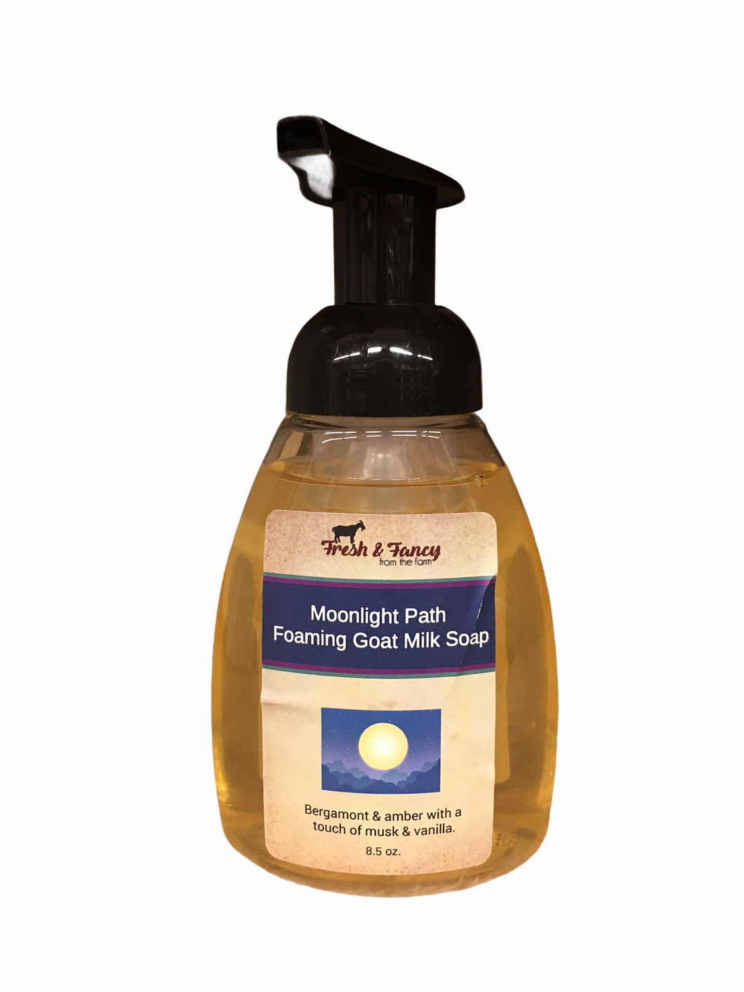 ** Sale ** Moonlight Path - Foaming Goat Milk Hand Soap - 8 oz.