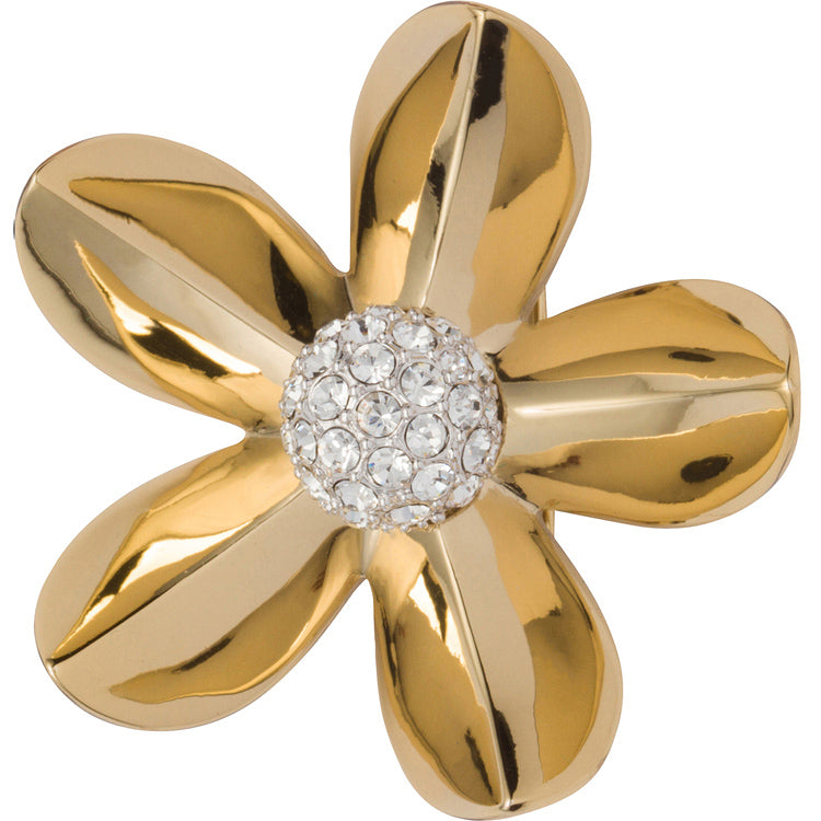 Gold and diamond flower brooch Grace Kelly
