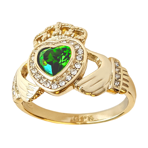 Grace Kelly emerald Claddagh ring