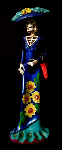 Ceramic Catrina with Parasol