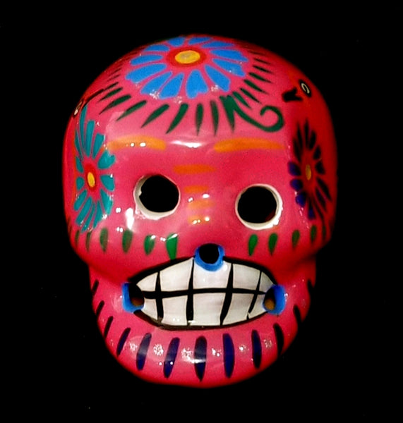 Medium sized Painted Ceramic Skull