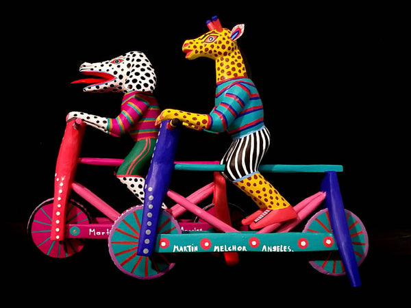 Girafffe or Dalmatian on Bicycle by Martin Melchor