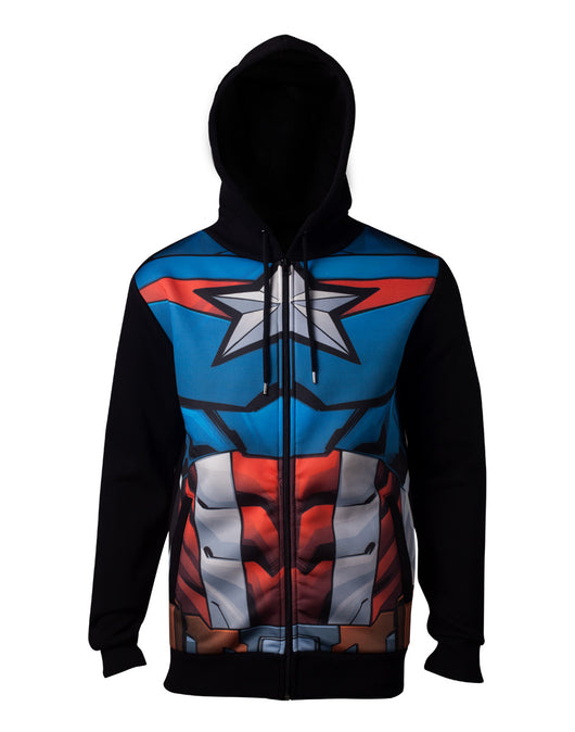 Marvel Sublimated Captain America Kapucnis