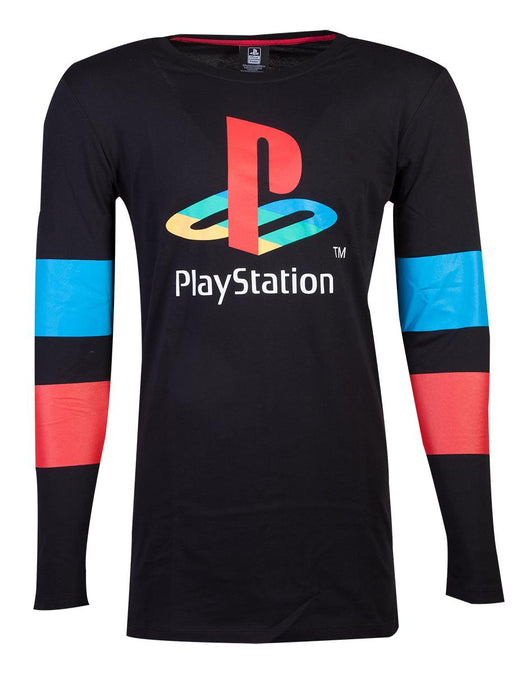 PlayStation Logo and Arms Striped Hosszú Ujjú Póló