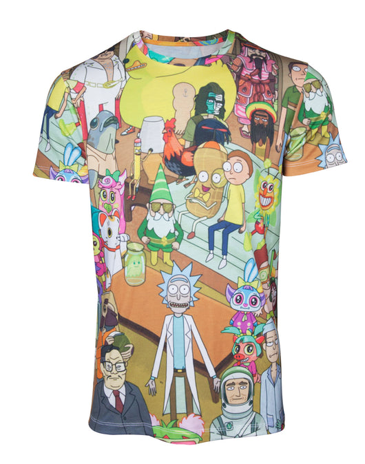 Rick and Morty Printed All Over Póló