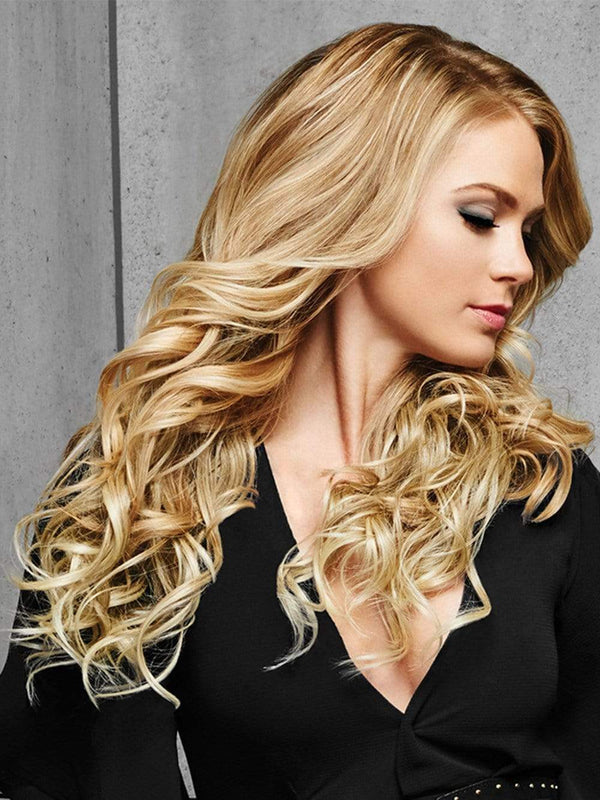 "22"" CURLY CLIP IN EXTENSION by HAIRDO in R14/88H GOLDEN WHEAT 