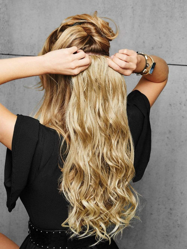 Tru2Life® heat-friendly synthetic hair means touch-ups are optional. No magic wand needed to get these extensions to match your favorite hairstyle. Just clip in and go!