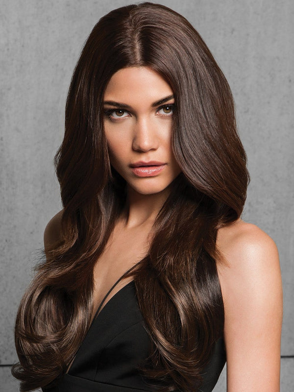 "22"" FINELINE STRAIGHT CLIP IN EXTENSIONS by HAIRDO in R6/30H Chocolate Copper 