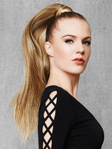 "This 25"" wrap around ponytail makes a major fashion statement."