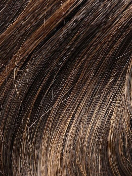 4H27 ICED MOCHA | Darkest Brown with 20% Light Red-Gold Blonde Highlights