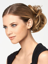 MODERN CHIGNON by Hairdo in R1416T BUTTERED TOAST | Dark Ash Blonde with Golden Blonde Tips