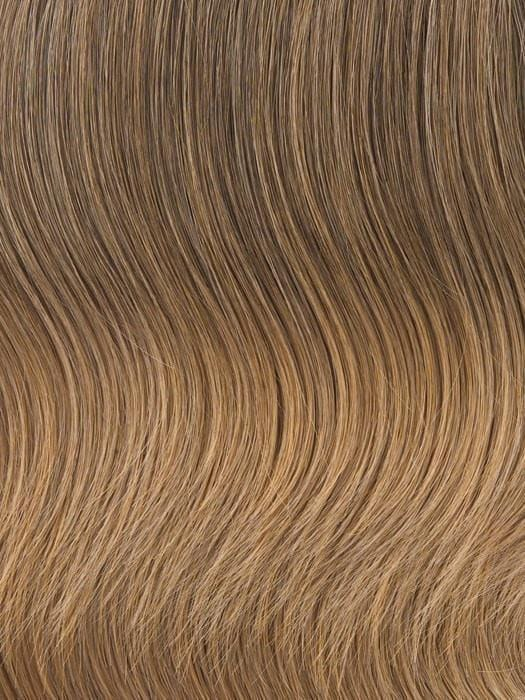 R1416T Buttered Toast | Dark, ash blonde with golden blonde tips