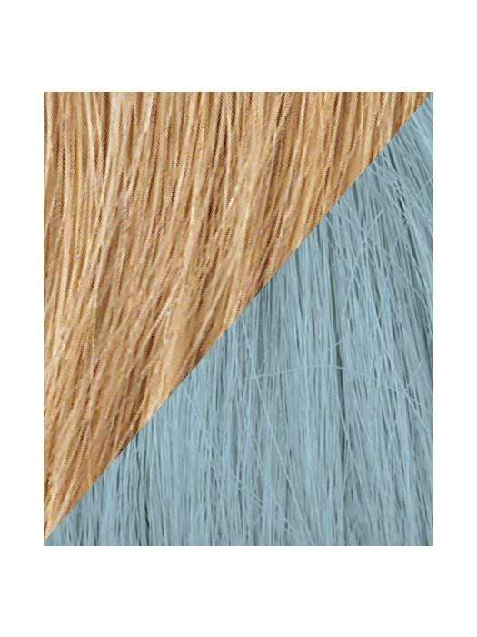 Color R25-BLUE = Ginger Blonde tipped with Blue