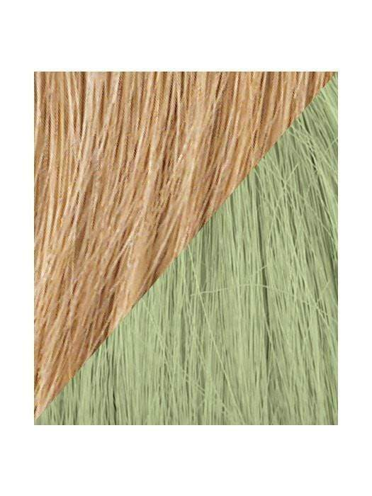 Color R25-GREEN = Ginger Blonde tipped with Light Green