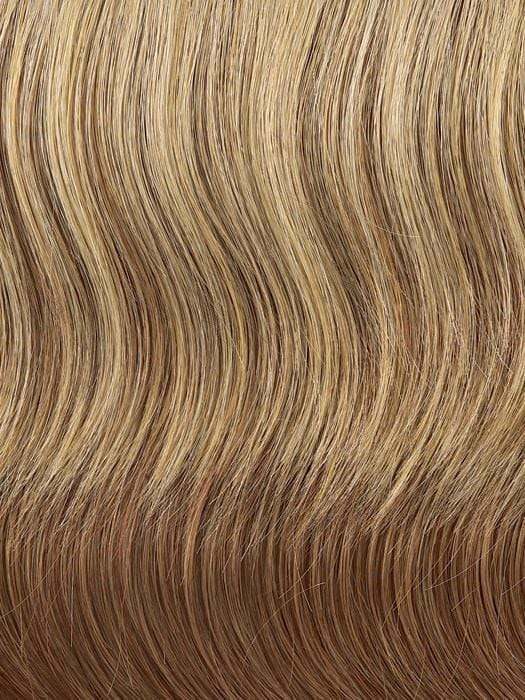 R29S = GLAZED STRAWBERRY: Strawberry Blonde with Pale Blonde highlights
