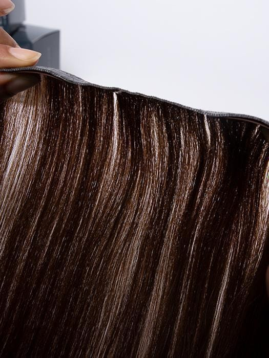 Weft's width measures 1/16th of an inch for undetectable volume