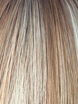 NUTMEG-R | Rooted Dark with Honey Brown base with Platinum Blonde highlights