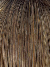 MOCHACCINO-R | Dark Roots with Light Brown base and Strawberry Blonde Highlights