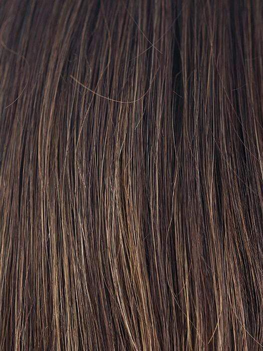 COFFEE-LATTE-R | Dark Brown with evenly blended Honey Brown highlights with Dark Roots