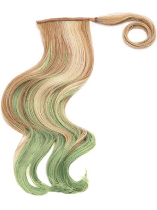 "23"" COLOR SPLASH PONY by Hairdo in R14/88H/GREEN 