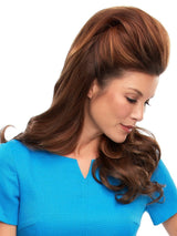 Clip in volumizer that adds thickness at the crown, ideal for the beginning stages of hair loss.