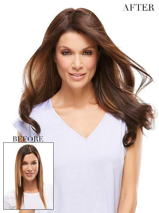 "EASIPART HH XL 18"" by easihair in 6RN Dark Brown 