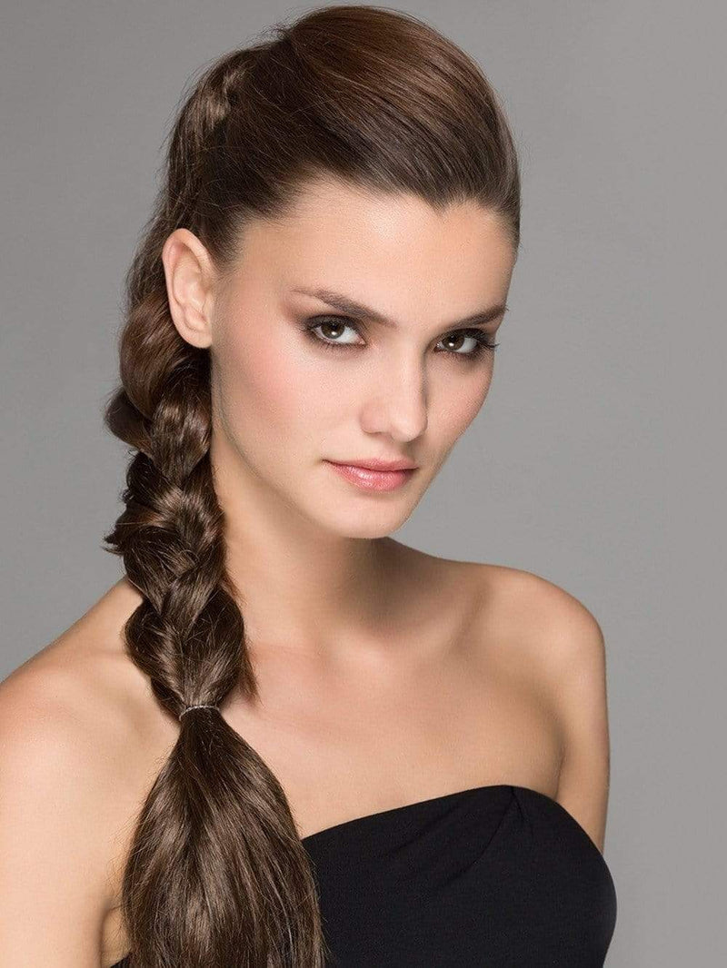 A beautiful, cascading clip in ponytail that can be used to make the perfect updo!
