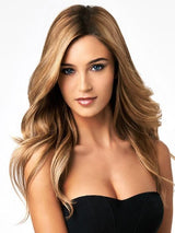 "Color R14/25 = Honey Ginger | 18"" Human Hair Highlight Extension by hairdo"