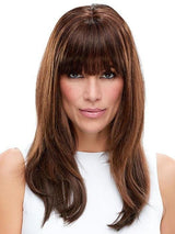 6RN DARK BROWN | Human Hair Renau Natural (The fringe is customized to reflect blunt bangs as an option)