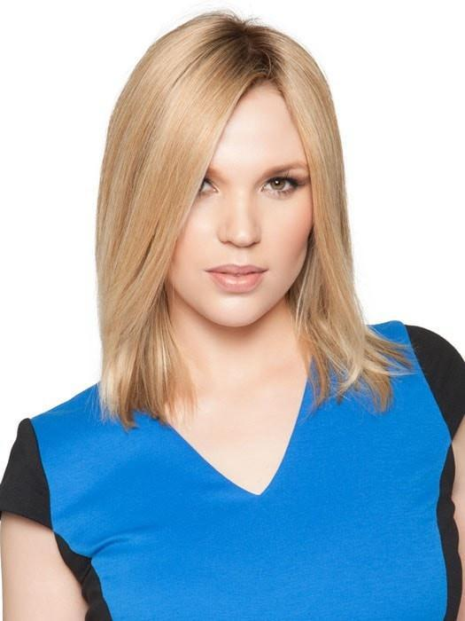 Hairpieces.com Exclusive Photo | Add thickness, conceal gray roots, or cover a bang | Color: 12FS8