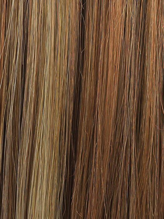 GINGER SNAP | Medium Auburn with Honey Blonde highlights