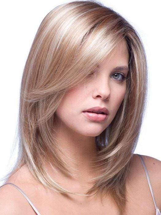 MILAN by Noriko in NUTMEG F | Medium Blonde and Honey Brown Base Frosted with Platinum Blonde Highlights