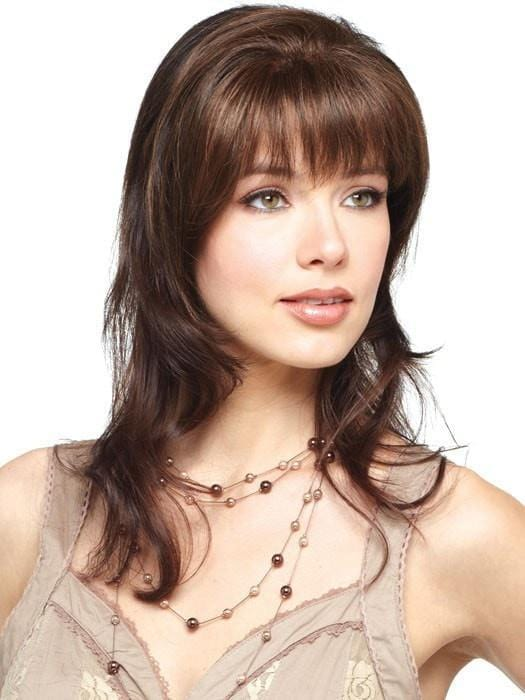 FRINGE FLAIR by Amore in GINGER BROWN | Medium Auburn Evenly Blended with Medium Brown