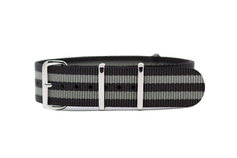 Black Pearl Nylon Strap 20mm