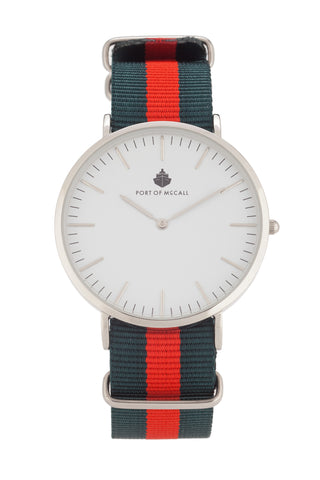 Red and Green Nato Strap