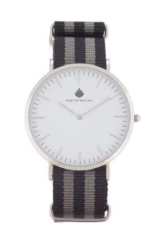 Black and Grey Nato Strap